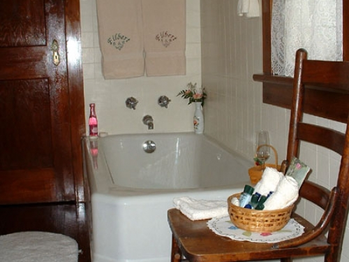 Guest Room Bathroom | Filbert B&B, Danielsville, PA