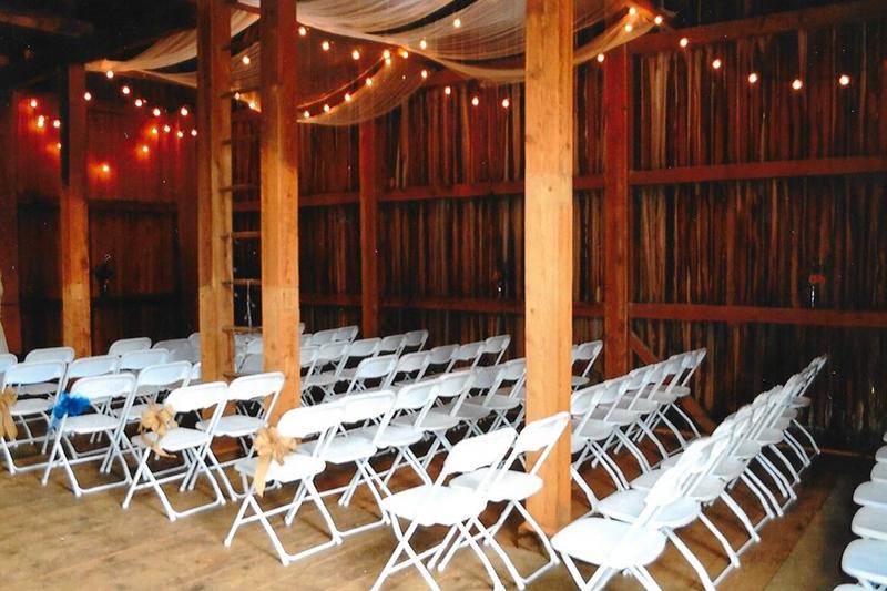 Wedding Venue/Chairs | Filbert B&B, Danielsville, PA