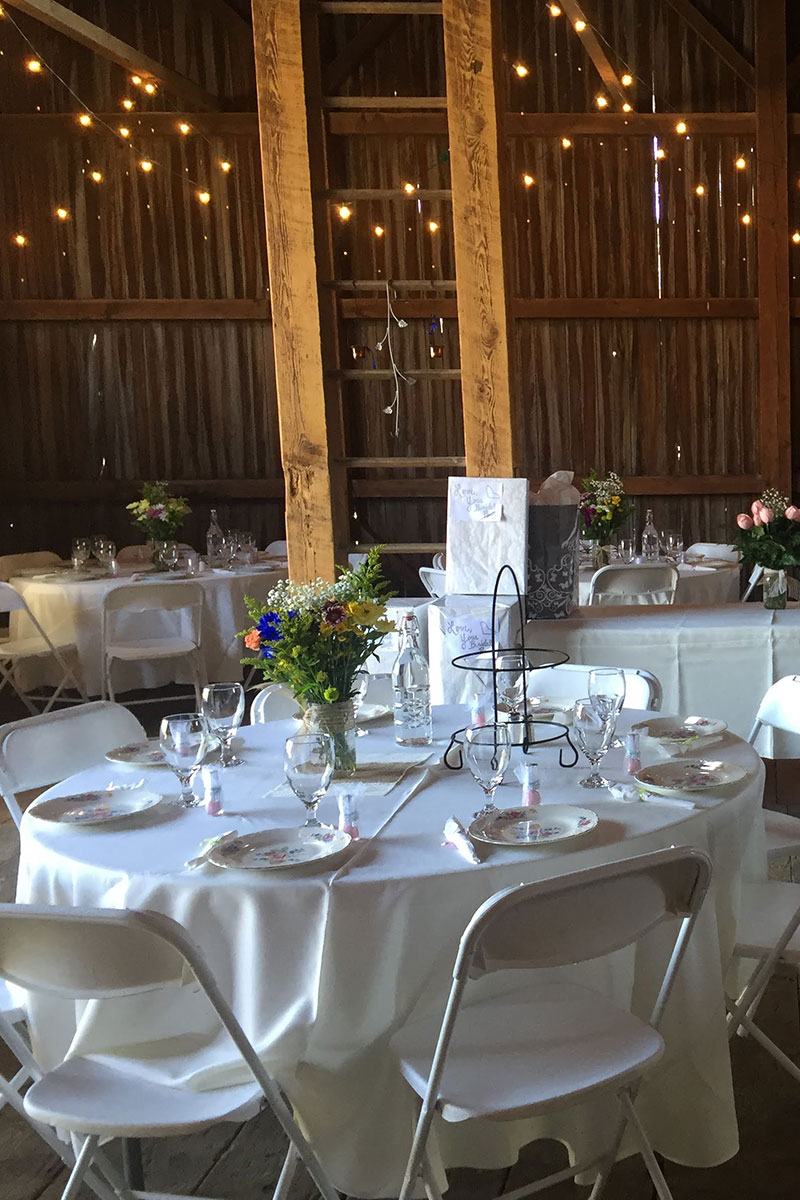 Wedding Table Setup | Filbert B&B, Danielsville, PA