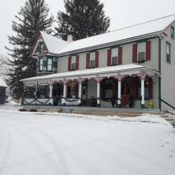 Front House Covered with Snow | Filbert B&B, Danielsville, PA