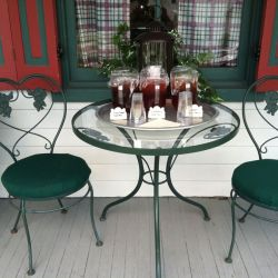 Table with Juice | Filbert B&B, Danielsville, PA