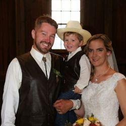 Bride and Groom With Kid | Filbert B&B, Danielsville, PA
